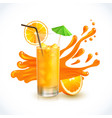 tropical orange juice design vector image vector image