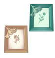 two wall-mounted wooden frame with designs on the vector image vector image