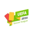 UEFA Euro 2016 badge isolated on white vector image vector image