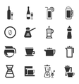 Utensils for the preparation of beverages vector image vector image