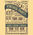 vintage event poster layout layered vector image vector image