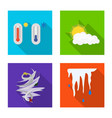 weather and climate logo vector image vector image