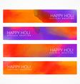 colorful holi banners set vector image