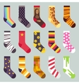 Textile colorful child warm socks set vector image