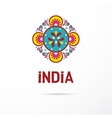 India - Mandala oriental pattern Indian icon vector image