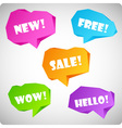 Colorful volume speech balloons of folding origami vector image