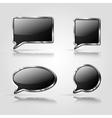 Set of Black speech bubbles vector image