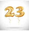 23 birthday celebration with gold balloons and vector image vector image