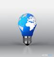 A light bulb with modern globe vector image