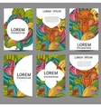 abstract brochures in doodle styleDesign vector image vector image