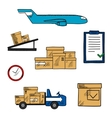 Air freight and shipping icons vector image vector image