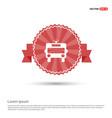 ambulance icon - red ribbon banner vector image vector image