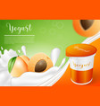 apricot and yogurt vector image