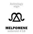 astrology asteroid melpomene vector image vector image