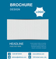 brochure template flyer background for business vector image
