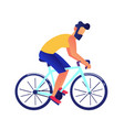 businessman riding a bike vector image
