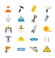 Construction Flat Icons color vector image vector image
