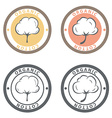 Cotton logo set Cotton labels stickers and emblems vector image