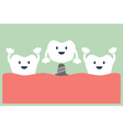 dental implant with crown vector image vector image