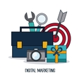 Digital Marketing over white background vector image vector image