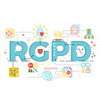 european gdpr general data protection regulation vector image vector image