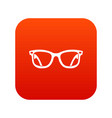 eyeglasses icon digital red vector image vector image