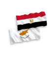 flags cyprus and egypt on a white background vector image
