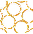 gold chain jewelry seamless pattern background vector image