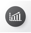 growth icon symbol premium quality isolated vector image vector image
