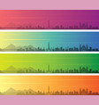 guatemala city multiple color gradient skyline vector image vector image