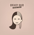 hair problem icon vector image vector image