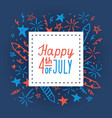 happy fourth of july card template vector image vector image