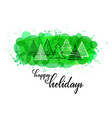 happy holidays hand drawn brush pen lettering vector image vector image
