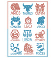 horoscope symbols vector image vector image