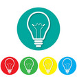 icon lights on colorful backgrounds vector image vector image