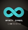 Infinity Symbol - Blue Retro Endless Sign on Dark vector image vector image