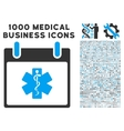 Life Star Calendar Day Icon With 1000 Medical vector image vector image
