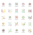 Linear abstract logos letters swirls vector image vector image
