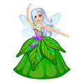 little fairy elven princess isolated on white vector image vector image