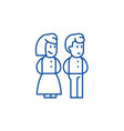 married couple line icon concept married couple vector image vector image