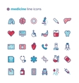 Medicine and medical equipment line icons vector image vector image
