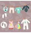 New baby boy and girl set for baby shower vector image vector image