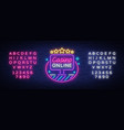 online casino neon sign logo in neon style vector image vector image
