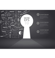 Opened wall in form of a keyhole business concept vector image vector image