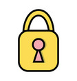 padlock element to security and protection sign vector image vector image