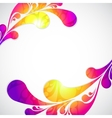 Pattern with frame colorful water drop vector image vector image