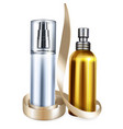 pefume and cream bottles 3d vector image