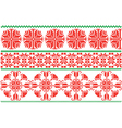 red and green flowers ornament vector image vector image