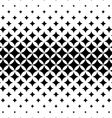 Seamless curved star pattern vector image vector image