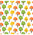 seamless pattern from autumn trees vector image
